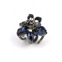 К1725-5-4 Краб с синими камнями длина 2,5см