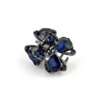 К1725-6-4 Краб с синими камнями длина 2см