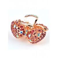 К3750-1-1 Краб с розовыми камнями длина 6,5см