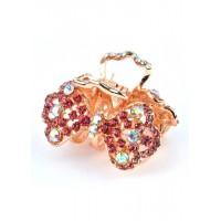 К3750-2-1 Краб с розовыми камнями длина 6,5см