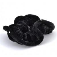 Р845-1 Резинка велюр черная