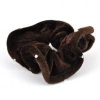 Р845-5 Резинка велюр коричневая