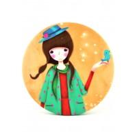 4640 Зеркало карманное Девочки №4