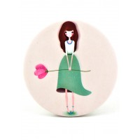 4640 Зеркало карманное Девочки №6