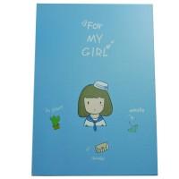 4647-1 Зеркало книжка голубое 21*14,5 см