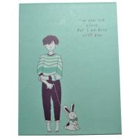 4648-1 Зеркало книжка голубое 12*9 см