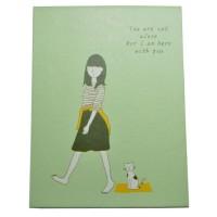 4648-3 Зеркало книжка зеленое 12*9 см