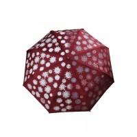 з3818-2 Зонтик бордовый с проявляющимся рисунком, 8спиц, автомат