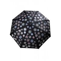 з3818 Зонтик черный с проявляющимся рисунком, 8спиц, автомат