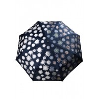 з3818-1 Зонтик синий с проявляющимся рисунком, 8спиц, автомат