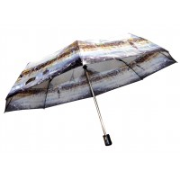 Зонтик 3023 города белый полуавтомат