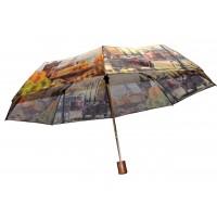 Зонтик 3023 города коричневый полуавтомат