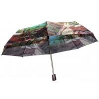 Зонтик 3023 города зеленый полуавтомат